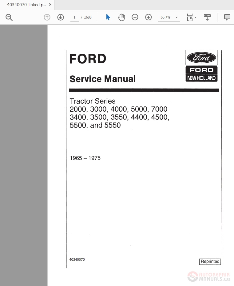 ford 4000 service manual download  tradesrenew